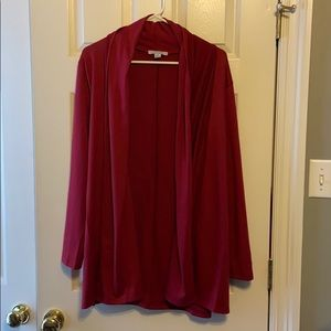 NWOT Favlux Fashion Red tie back Cardigan